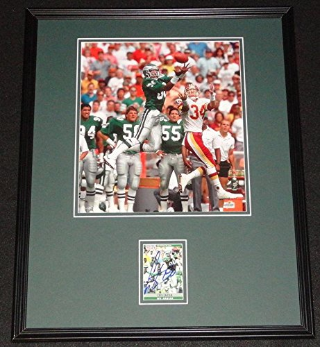 Cris Carter Autographed Photograph - Framed 16x20 Display Eagles Ohio State - Autographed NFL Photos