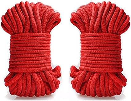 2pc suave algodón cuerda 10 m 32-foot suave cuerda de seda ...