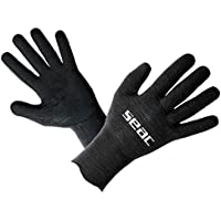 SEAC Ultraflex - Guantes de Buceo (Neopreno, 2 mm), Color Negro