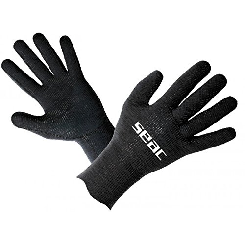 SEAC Ultraflex Neoprene 2mm Scuba Diving Gloves, Black, - Gloves Warm Water 2mm