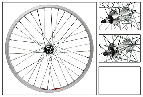 Wheel Set 20 x 1.75 Wheel Master Silver, 36H, BMX 3/8 FW Hub, 14g UCP Spokes - Hub 36h Bmx Bike