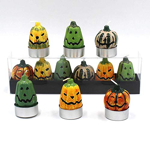 Party Diy Decorations - 6pcs Lot Creative Pumpkin Candles Halloween Small Candle Decorative Festival Party Decor Supplier - Decor Sconce Christmas Holder Fruit Bell Halloween Event Stand Candle -