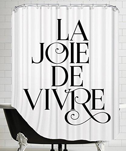 """American Downright """"La Joie De Vivre Fancy"""" Shower Curtain by Brett Wilson, 71"""" x 74"""""""