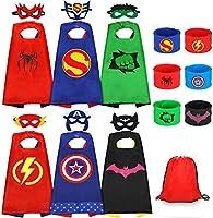 Jojoin Capes de Super-héros pour Enfants, 6PCS Jouets de Super Heros Costumes avec 6 Masques de Super-héros, 6 Slap...