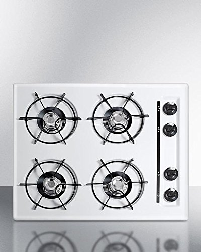 Summit WNL033 Gas Cooktops, White by Summit