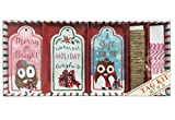 Punch Studio Owl Greetings Holiday Gift Tag Kit - Set of 12