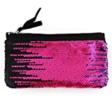 Clearance! Women Make-up Bag Double Color Sequins Coin Cards Holder Purse Wallet Pencil Pouch (L)