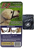 Ez Dog Harness and Leash, Safely Controls Pulling and Tugging, One Size Fits all, Nylon Over the Head Dog Halter (Black with Blue Bag)