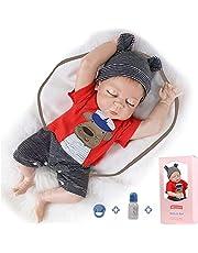ZIYIUI 50,8 cm Reborn babydockor realistisk pojke silikon helkropp nyfödd 50 cm återfödda bebisar sova med ögon stängd pojke och flicka docka gåvor leksaker