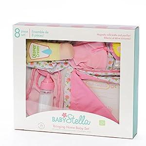 Manhattan Toy Baby Stella Bringing Home Baby Doll Accessories Set for 15″ Dolls