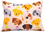 Toddler Pillowcase 13x18 by Comfy Turtles, 100% Cotton, or Get Your Kid's Smile with Cute Animals of This Soft Hypoallergenic Pillow Cover (Puppies with Glasses)