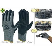 240 pairs wholesale Heng Rui Premium Black latex coated gray cotton Grip glove