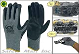 240 pairs wholesale Heng Rui Premium Black latex coated gray cotton Grip glove
