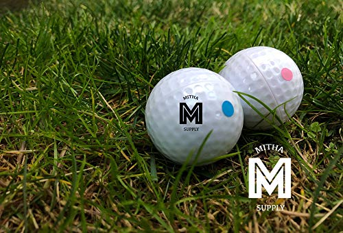 Mitha Supply Premium Gender Reveal Golf Ball Set   Exploding Golf Balls   Baby Shower Gender Reveal Party Supplies   Team Boy Or Girl   ()