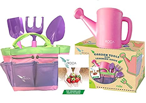 Superior Pink Gardening Tools For Kids With STEM Early Learning Guide By ROCA Toys. Garden  Tools