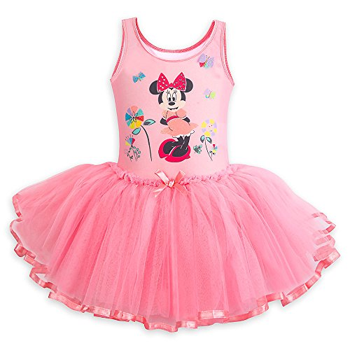 Disney Minnie Mouse Deluxe Leotard with Tutu for Girls Size 5/6