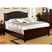 247SHOPATHOME Idf-7599CK Bed-Frames, California King, Cherry