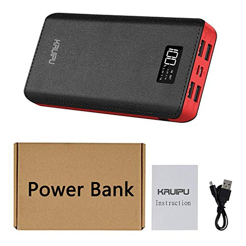 Power Bank 24000mAh Portable Charger Battery Pack 4 OutPut Ports Huge Capacity Backup Battery Compatible Smart Phone Almost All Android Phone And Others by KENRUIPU (Image #6)