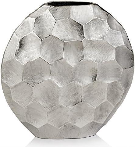 Modern Day Accents Silver Facetado Vase