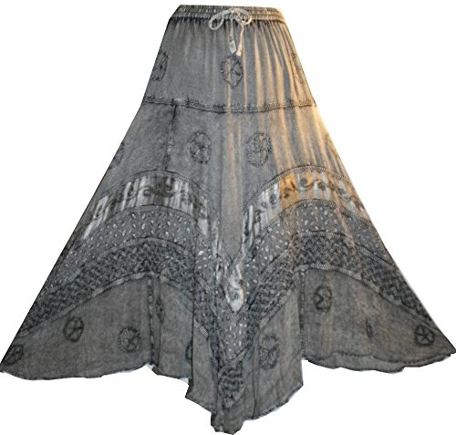 704 SK Dancing Full Embroidered Twirl Long Renaissance Skirt