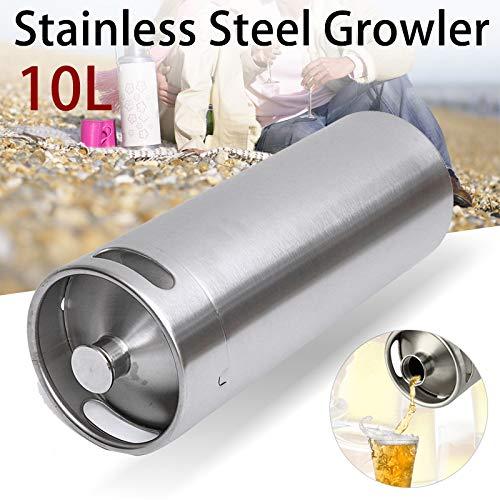Stainless Steel Brew Barrel, SENREAL 10L Stainless Steel Cast Growler Barrel Beer Wine Making Tools Accessories by SENREAL (Image #7)