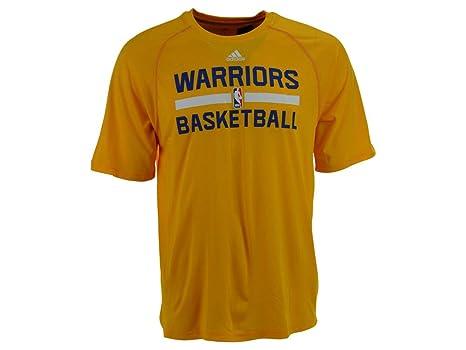 Adidas Oro Golden State Warriors Climalite práctica de Manga Corta Camiseta, Hombre Mujer Infantil,