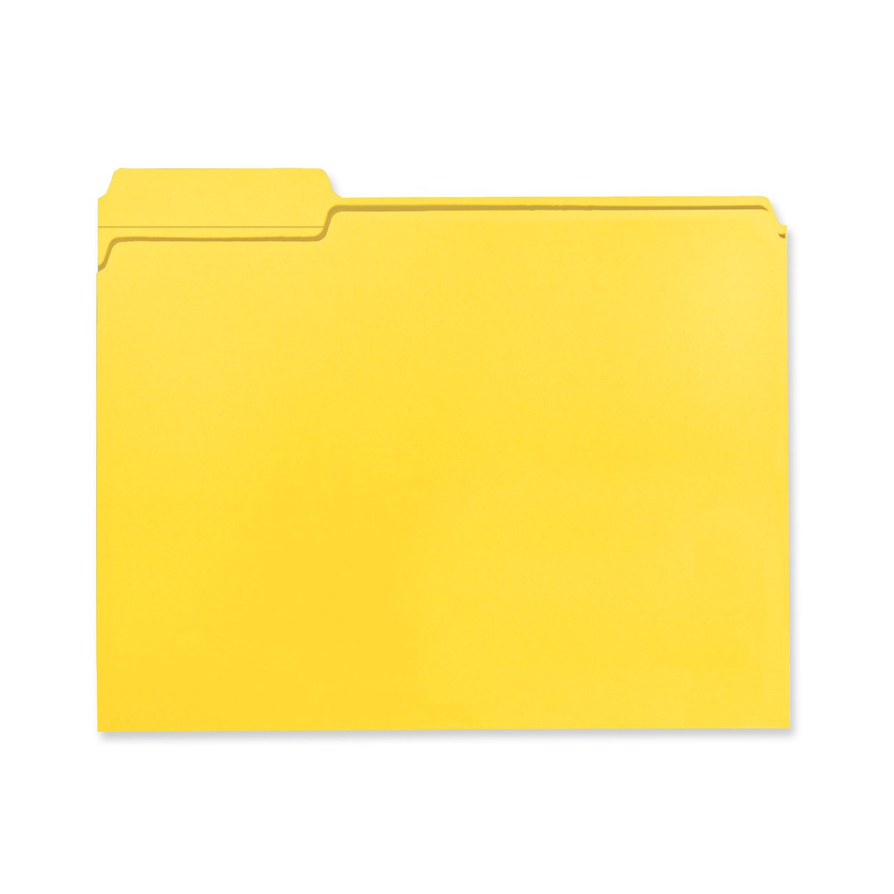 Smead 100% Recycled File Folder, Reinforced 1/3-Cut Tab, Letter Size, Yellow, 100 per Box (12938 )