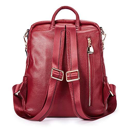 Cuir de d'École BOSTANTEN Sac Dos à Fille Rosé à Sac Sac Sac voyage porté Grande main dos Femme Rouge Scolaire 57pqg