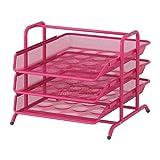 Ikea Steel Letter Tray, Pink