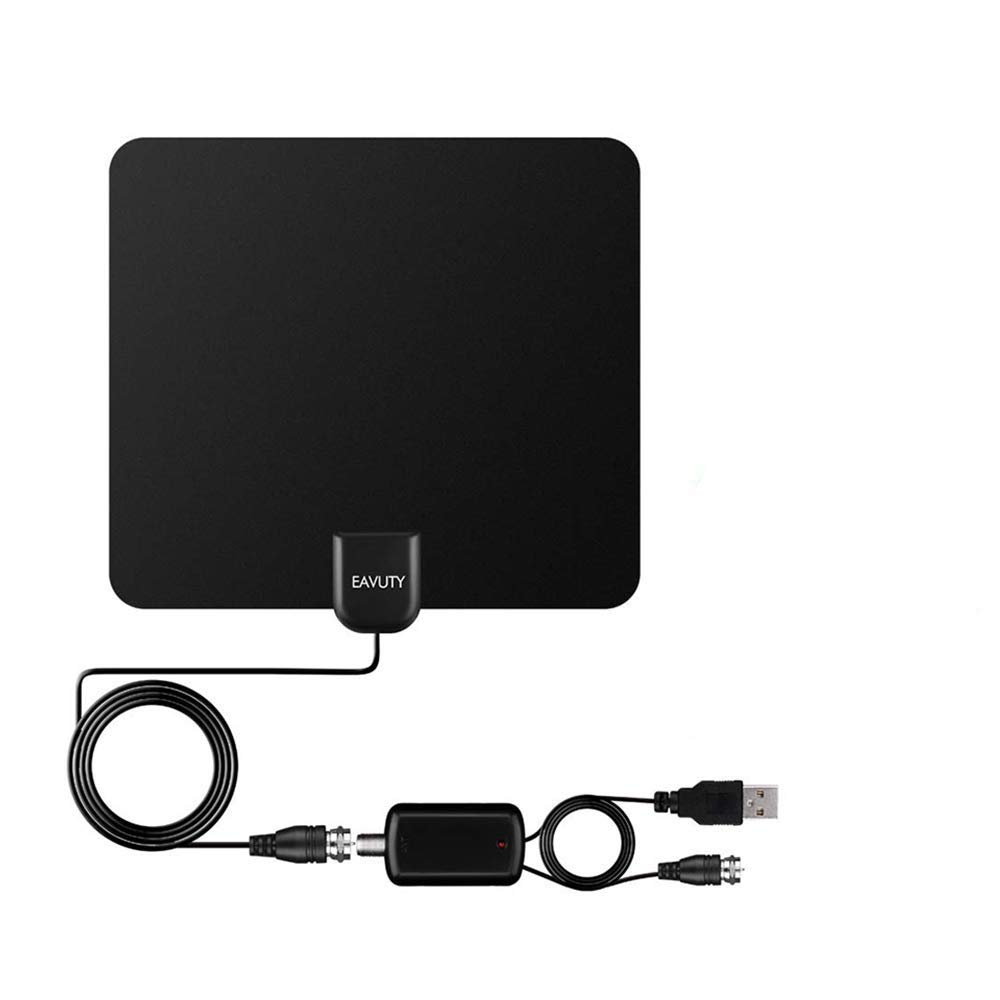 130 Miles Range TV Antenna, 2019 Newest HDTV Indoor Digital Amplified Antennas with Switch Amplifier Signal Booster for Free Local Channels 4K HD 1080P,13.5ft Coaxial Cable - Better Reception by EAVUTY