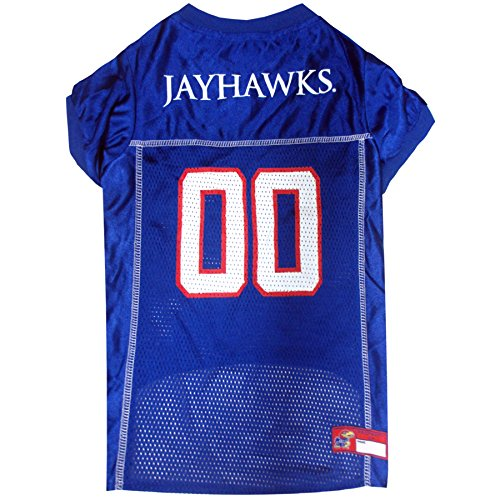 Pets First Collegiate University of Kansas Jayhawks Dog Mesh Jersey, (Ku Cheerleader Costume)