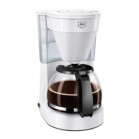 Melitta Easy Cafetera de filtro con jarra de vidrio, Capacidad 10 tazas (125 ml), Blanco