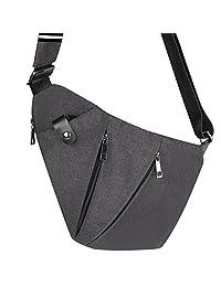 oumeiou Sling Bag ligero Antirrobo Mochila de hombro Pecho Cruzado pequeña bolsa de Day Pack exterior para hombres mujeres