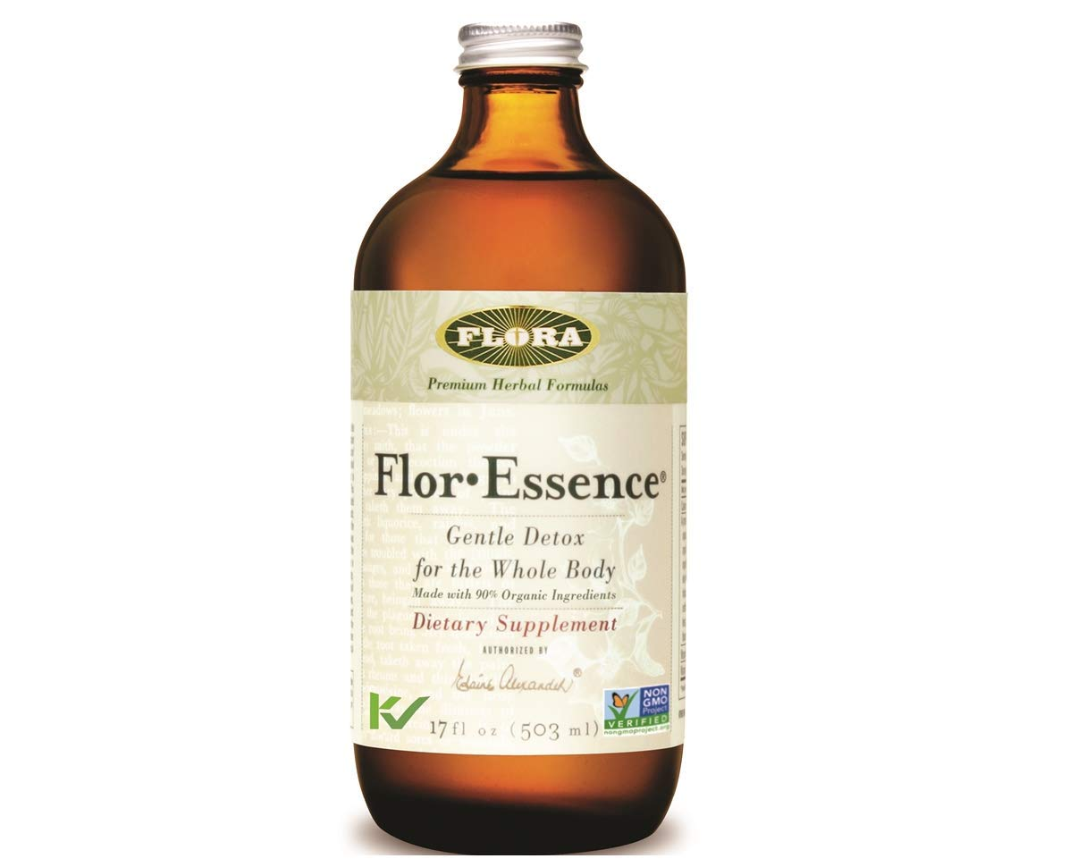 Flor Essence Detox Liquid Tea 17 Oz – Gentle Daily Herbal Cleanse – All Natural 90 Organic Ingredients – by Flora