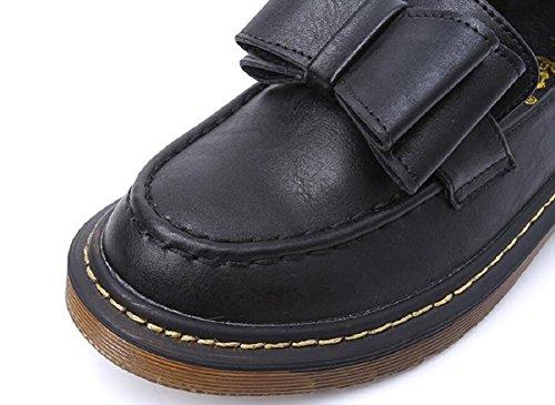 Womens Fluga Skor Tillfälliga Läder Ankel Platta Skor Från Jiye Svart