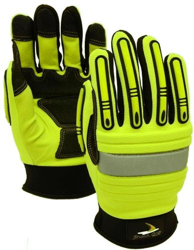 Seattle Glove Gr2012 2Xl Gloves  Green Hiv Vis  Xx Large