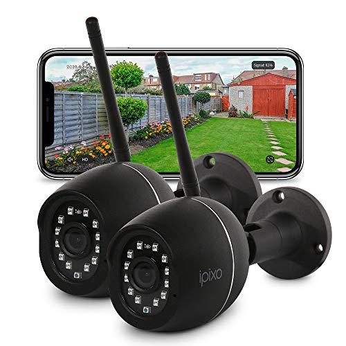 iPixo Upgraded WiFi Outdoor Home Security Camera, 1080p External Waterproof Home Surveillance CCTV, Wireless IP Camera…