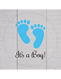 Clear It's a Boy Stickers,1 inch Transparent Baby Shower Stickers, 120 ct (#208) BOBEBE Online Baby Store From New York to Miami and Los Angeles