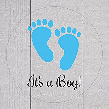 Clear its a boy stickers1 inch transparent baby shower stickers 120 ct