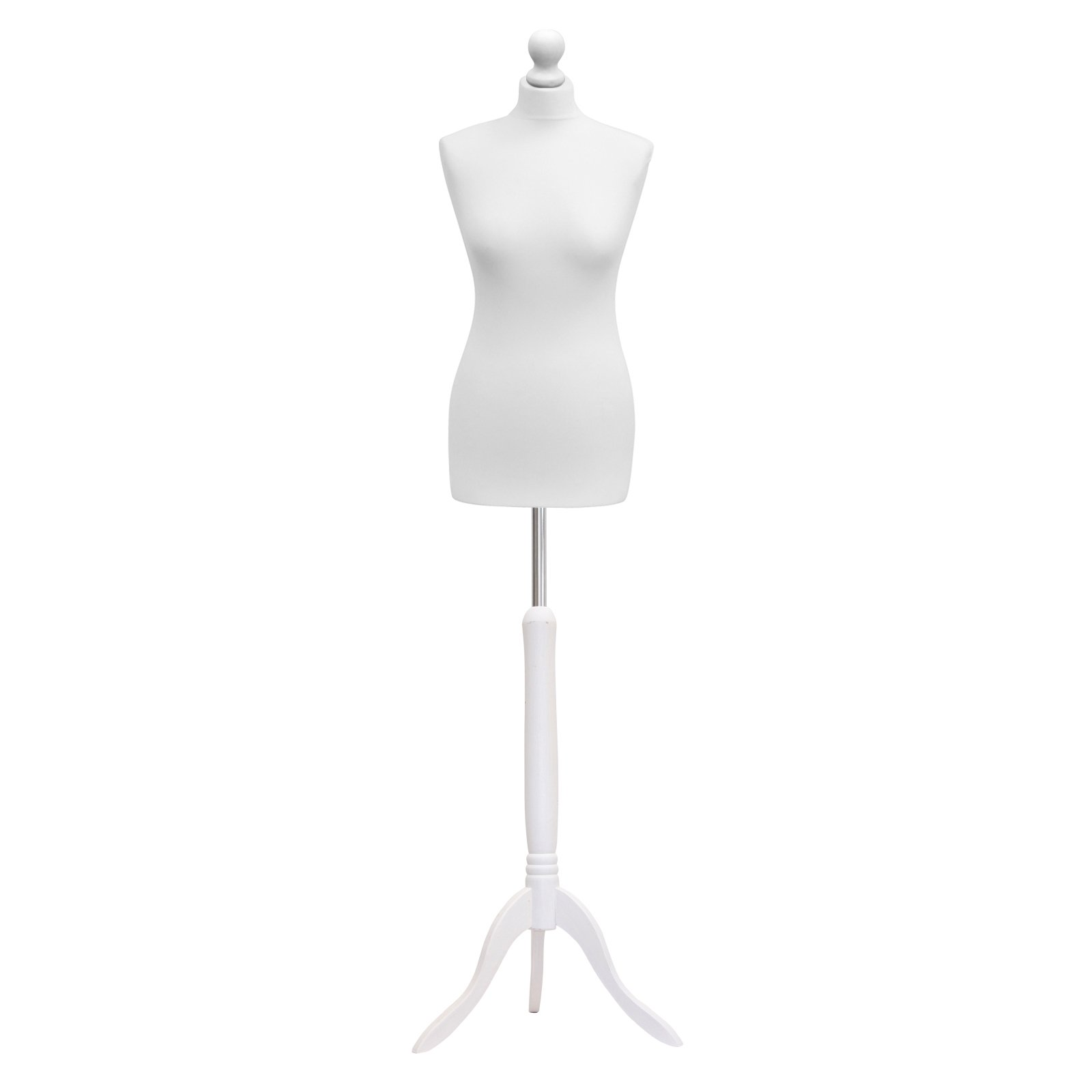 STERLING SILVER LTD Female Tailors Dummy Mannequin White Size 8/10 Dressmakers Fashion Students Display Bust With A White Wood Base