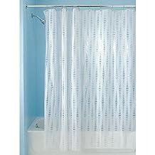 """InterDesign Orbinni Vinyl Shower Curtain - 72"""" x 72"""", White"""