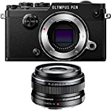 Olympus PEN-F 20MP Mirrorless Micro Four Thirds Digital Camera w/ 17mm f1.8 Lens Bundle includes PEN-F Digital Camera and M.Zuiko 17mm f1.8 Lens