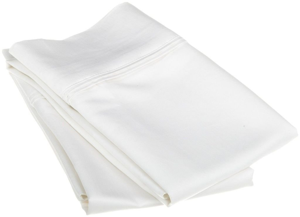 Rajlinen BODY PILLOW CASES - 100% Cotton Luxury 600-Thread Count Sateen Finish 2 Qty 20''X60'' Size - White Solid by Rajlinen (Image #1)