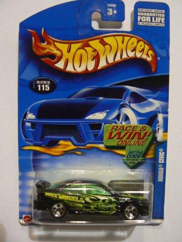 Hot Wheels Honda Civic 2002 Collector #115 on Code Card