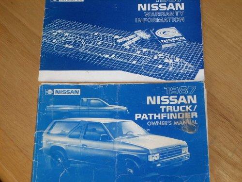Truck Oem Parts Cd - 1987 Nissan Truck and Pathfinder Owner's Manual Original
