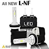Alla Lighting 2017 Newest Version 8400 Lumens Extremely Super Bright 6000K Xenon White High Power Mini H11 H8 H9 LED Headlight Bulbs Conversion Kits Headlamps with Turbine Heating -- 2 Years Warranty