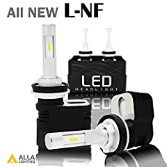 Alla Lighting Latest Design with turbine heating advantage H8 / H9 / H11 L-NF LED Headlight Bulbs Conversion Kits-Perfect Replacement the Halogen bulb              Alla Lighting pursues to offer the best valuable guaranteed le...