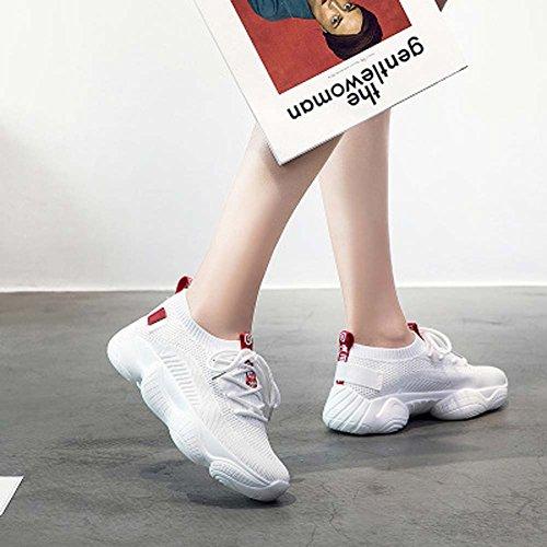 Para Zapatillas Transpirables Zapatos Moda UK7 White Casuales Fitnessuk3 Running Estudiantes Mujeres De De Deporte Zapatos Zapatillas aqxz8aX
