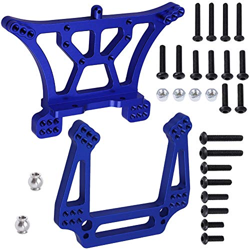 Hobbypark Aluminum Front & Rear Shock Tower Mounts Replace 3638 3639 Upgrade Parts for Traxxas Slash 2WD 1/10 (Navy Blue)
