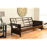 Phoenix Futon Sofa Frame in Espresso Finish